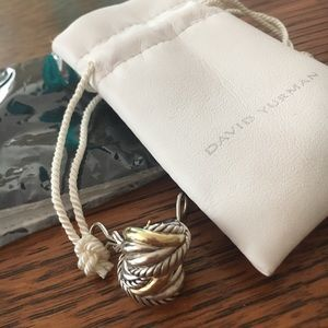 Yurman Silver & 18k Gold Cable Crossover Earrings
